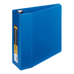 """[IN]PLACE® Heavy-Duty Reference 3-Ring Binder, 4"""" D-Rings, Blue"""