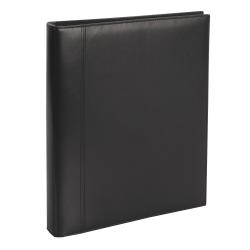 "Office Depot® Brand Premium Leatherette Presentation 3-Ring Binder, 1"" Round Rings, Black"
