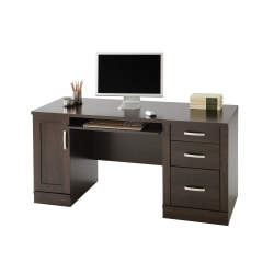"Sauder® Office Port 60""W Computer Credenza, Dark Alder"