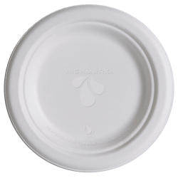 "Highmark® Compostable Sugercane Paper Plates, 6"", White, Pack Of 1,000"