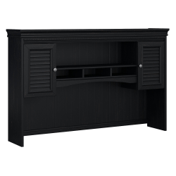 Bush Furniture Fairview Hutch for L Shaped Desk, Antique Black/Hansen Cherry, Standard Delivery