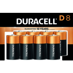 Duracell® Coppertop D Batteries, Pack Of 8