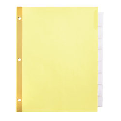 Office Depot® Brand Insertable Tab Dividers, Clear Tabs, Buff paper, 8 Tabs, Pack of 3