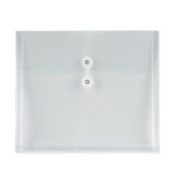 Office Depot® Brand Poly String Envelopes, Letter, Clear, Pack of 5
