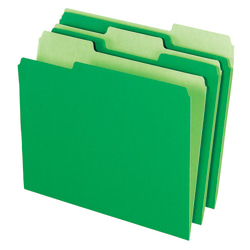 Office Depot® Brand 2-Tone File Folders, 1/3 Cut, Letter Size, Bright Green, Box Of 100
