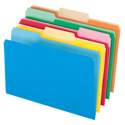 Office Depot® Brand Colored File Folders, Legal Size, 1/3 Cut, Assorted Colors, Box Of 100