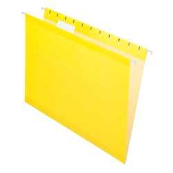 Office Depot® Brand Hanging Folders, Letter Size, Yellow, Box Of 25