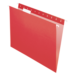 Office Depot® Brand Hanging Folders, Letter Size, Red, Box Of 25