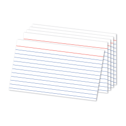 """Office Depot® Brand Ruled Index Cards, 5"""" x 8"""", White, Pack Of 100"""