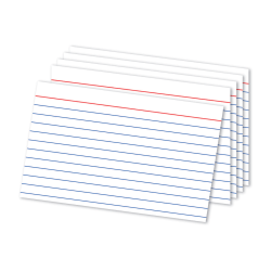 """Office Depot® Brand Ruled Index Card, 4""""x 6"""", Pack Of 500"""