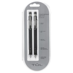 TUL® Mechanical Pencils, 0.5 mm, Black Barrels, Pack Of 2