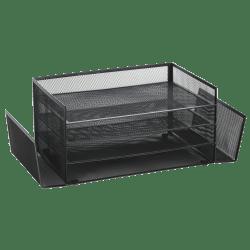 Brenton Studio® Black Mesh 4-Shelf 2-Sided Desk Sorter
