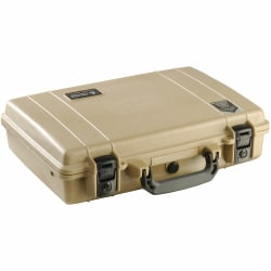 """Pelican 1470 Carrying Case Notebook - Desert Tan - Crush Proof, Dust Proof, Corrosion Proof, Chemical Resistant, Shock Proof - Polycarbonate - Handle - 13.2"""" Height x 16.9"""" Width x 4.5"""" Depth"""