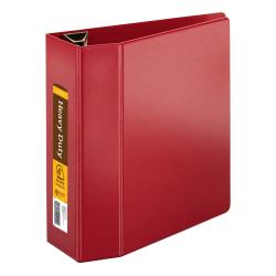 "Office Depot® Brand Heavy-Duty Easy-Open 3-Ring Binder, 4"" D-Rings, Dark Red"