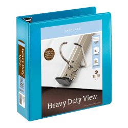 """Office Depot® Brand Heavy-Duty View 3-Ring Binder, 3"""" D-Rings, 54% Recycled, Teal"""
