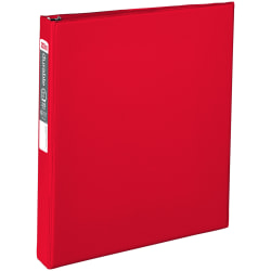 """Office Depot® Brand Durable Reference 3-Ring Binder, 1"""" Round Rings, Red"""