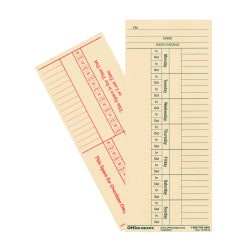 """OfficeMax 2- Sided Weekly Time Cards, 3 3/8"""" x 8 1/4"""", Pack Of 400"""