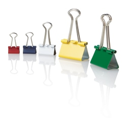 OfficeMax® Brand Binder Clips, Mini, Multicolor, Pack Of 60