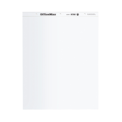 """OfficeMax Easel Pads, 27"""" x 34"""", Plain White, 50 Sheets Per Pad, Pack Of 5 Pads"""