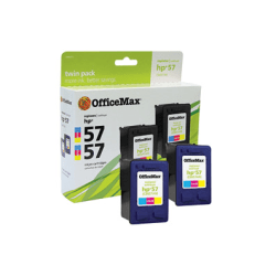Office Depot® Brand OM98933 Remanufactured Tri-Color Ink Cartridge Replacement For HP 57, Pack Of 2