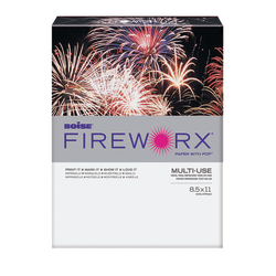 """Boise® FIREWORX® Multi-Use Color Paper, Letter Size (8 1/2"""" x 11""""), 65 Lb, 30% Recycled, Roman Candle Red, 250 Sheets"""