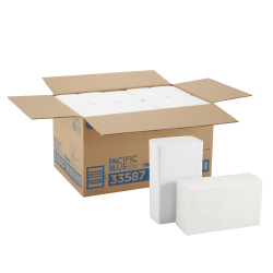 Pacific Blue Ultra™ by GP PRO BigFold® 1-Ply Z-Fold Paper Towels, 40% Recycled, 220 Sheets Per Pack, Case Of 10 Packs
