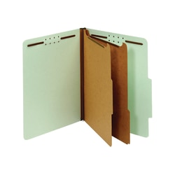 [IN]PLACE® Classification Folders, Letter, 2 Dividers, 30% Recycled, Light Green, Box Of 10 Folders