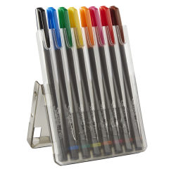 Sharpie® Pens With Hard Case, Fine Point, Assorted Ink Colors, Pack Of 8