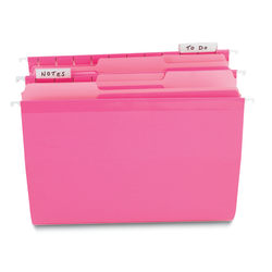"""OfficeMax® Interior File Folders, Letter Size (8-1/2"""" x 11""""), Pink, Box Of 100"""