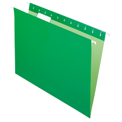 Office Depot® Brand Hanging Folders, Letter Size, 1/5 Tab Cut, Bright Green, Box Of 25