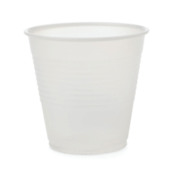 Medline Disposable Plastic Drinking Cups, 5 Oz, Translucent, 100 Cups Per Bag, Case Of 25 Bags