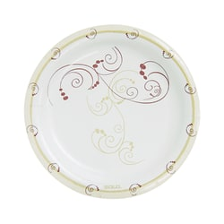 """Solo® Symphony Paper Plates, 8 1/2"""", Tan, Pack Of 125"""