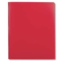 """DiVOGA 2-Pocket 3-Prong Report Cover, 8 1/2"""" x 11"""", 1/2"""" Capacity, Red"""