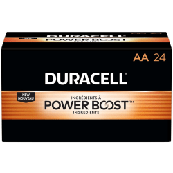 Duracell® Coppertop AA Alkaline  Batteries, Box Of 24, Case Of 6 Boxes