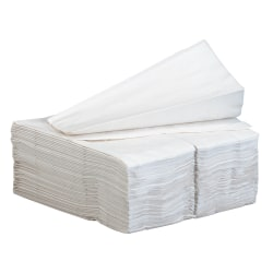 GP PRO Dixie® 1/8-Fold 2-Ply Dinner Napkins, 100% Recycled, White, Pack Of 100
