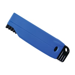 Cosco Self-Retracting Box Knives, Black/Blue, Pack Of 5
