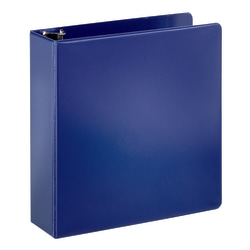 "Office Depot® Brand Durable Slanted D-Ring Binder, 3"" Rings, 43% Recycled, Blue"