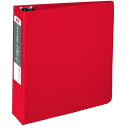"Office Depot® Brand Nonstick 3-Ring Binder, 3"" Round Rings, 64% Recycled, Red"