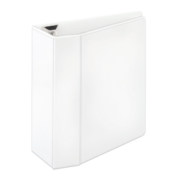 "Office Depot® Brand Heavy-Duty View 3-Ring Binder, 5"" D-Rings, White"