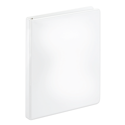 """[IN]PLACE® Heavy-Duty Nonstick View 3-Ring Binder, 1/2"""" Round Rings, 40% Recycled, White"""