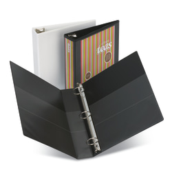 """[IN]PLACE® Heavy-Duty Nonstick View 3-Ring Binder, 1/2"""" Round Rings, 40% Recycled, Black"""