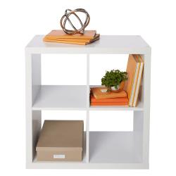 """Brenton Studio® Cube Bookcase, 4-Cube, 27-5/16""""H x 27-3/8""""W x 14-7/8""""D, White"""