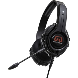 GamesterGear Cruiser Headset - Stereo - Mini-phone - Wired - 32 Ohm - 20 Hz - 20 kHz - Over-the-head - Binaural - Circumaural - 4.90 ft Cable - Black