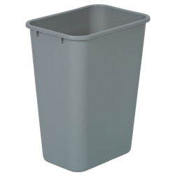 Highmark™ Standard Wastebasket, 10 1/4 Gallons, Silver