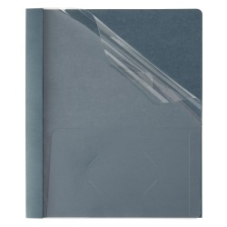 "Office Depot® Brand Clear-Front Report Covers, 8 1/2"" x 11"", 1/2"" Capacity, Navy, Pack Of 25"