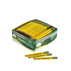 Ticonderoga® Golf Pencils With Erasers, Presharpened, #2 Lead, Pack of 72