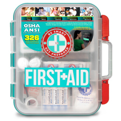 Be Smart Get Prepared Omar Medical Supplies First Aid Kit, 326 Pieces
