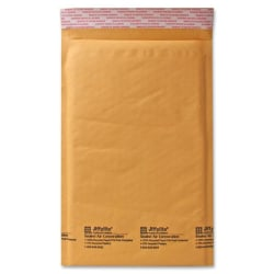 "Sealed Air Self-Seal Bubble Mailers, 7 1/4"" x 12"", Kraft, Case Of 100"