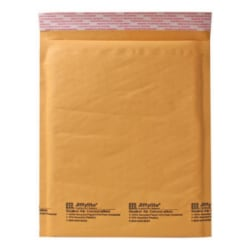 "Sealed Air Self-Seal Bubble Mailers, 12 1/2"" x 19"", Kraft, Case Of 50"