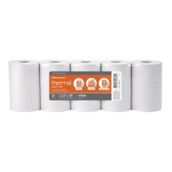 """Office Depot® Brand Thermal Paper Rolls, 2 1/4"""" x 50', White, Pack Of 10"""